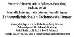 Zahnmedizinische/en Fachangestellte/er