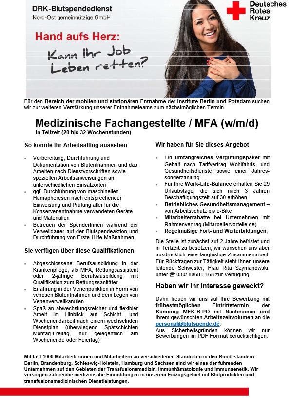 Medizinische Fachangestellte/r MFA (m/w/d)
