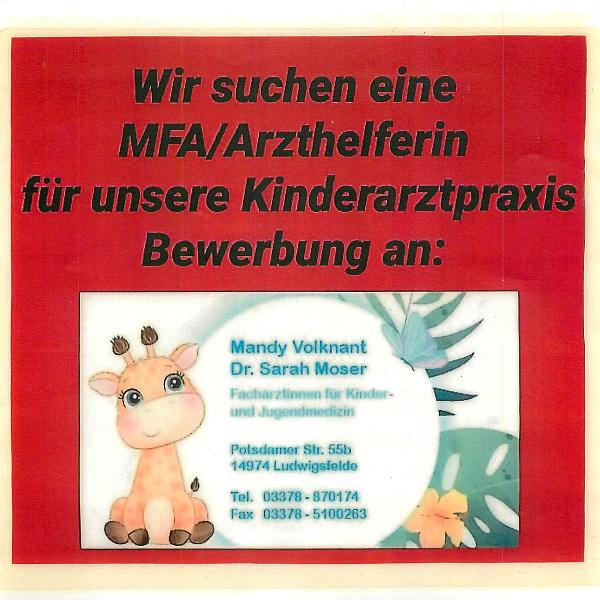 MFA/Arzthelfer/i  (m/w/d)