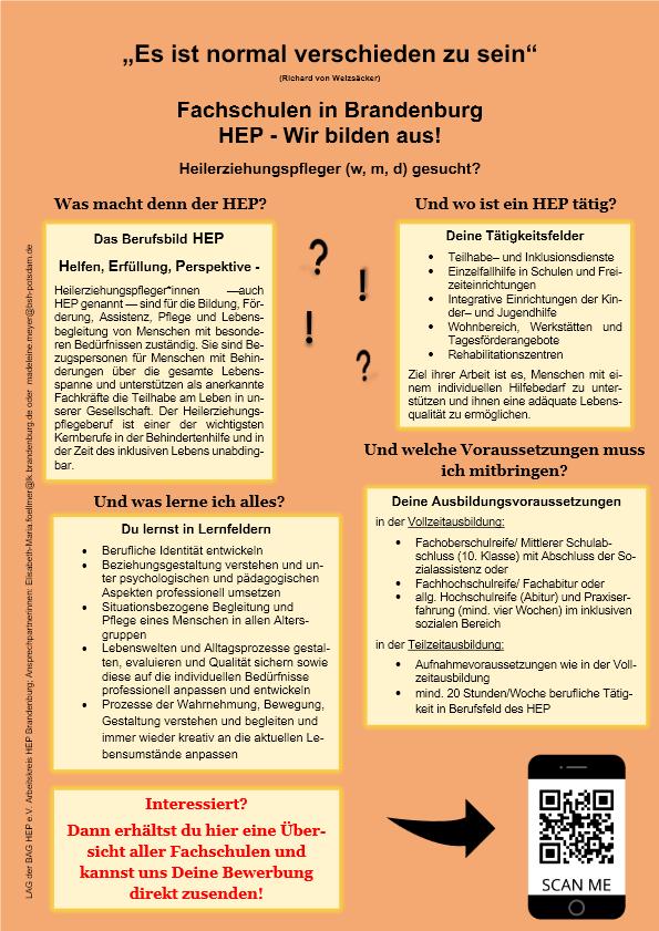 Heilerziehungspflege – Ausbildung im Land Bandenburg